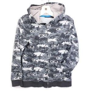 Calvin Klein minecraft black gray zippered hoodie